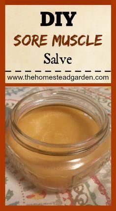 DIY Sore Muscle Salve #naturalremedies #herbs #salves