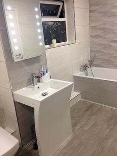 #porcelanosa tiles #seven sink. Our new bathroom