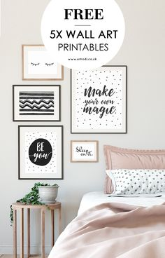 30 Brilliant Picture of Bedroom Art . Bedroom Art Modern Black And White Printables For Your Scandi Style Bedroom Gallery Wall Bedroom, Bedroom Art, Bedroom Black, A4 Poster, Poster Wall, Free Prints, Wall Art Prints, Bedroom Posters, Bedroom Wall Quotes