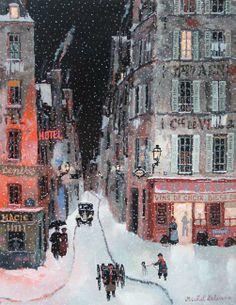 "Décembre. Acrylic on canvas. 13¾"" x 10½"""