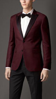 Burberry | Purple Modern Fit Satin Lapel Tuxedo Jacket for Men
