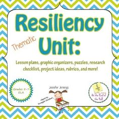 This is a 6-lesson unit on resiliency for sixth grade. Three of the lessons are detailed lesson plans, the other 3 have brief descriptions. All lesson materials are included: handouts, puzzles, and rubrics. I've also included a couple of photographs of final projects.The unit includes:- introduction of the definition of resiliency- lesson plans- puzzles for introducing synonyms and antonyms- handouts- photographs of final project- rubrics for four out of the six…