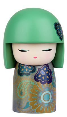 """Kimmidoll™ Mie - 'Prosperous' - """"My spirit is authentic and true. By valuing and pursuing the things that matter most to you, you show the wisdom of my spirit. May you enjoy the rich blessings that come from living a life that is truly meaningful to you."""""""