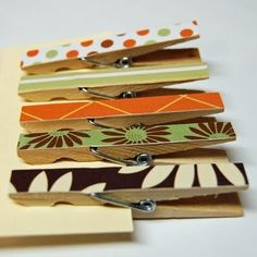 Purty Clothespins!