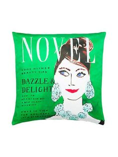 Gift ideas for book lovers - literary chic pillow from Kate Spade