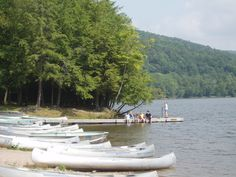 Chilrden on the pier at Mongaup Pond Campground - NYSDEC Campgrounds