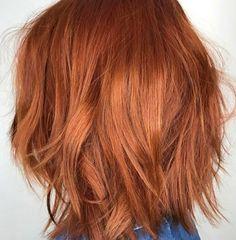 copper hair color by Hair by Cena - Kurzhaarfrisuren Red Bob Hair, Short Red Hair, Short Hair Styles, Short Copper Hair, Copper Hair Dye, Copper Red, Red Hair Inspo, Asymmetrical Bob Haircuts, Hair Color Formulas