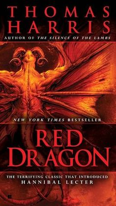Red dragon. A novel about a serial killer on the loose who has a love for killing a family. First book of Thomas Harris` book series