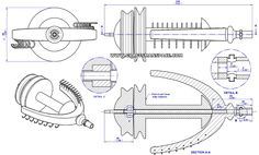Spinning wheel plan - Flyer subassembly drawing