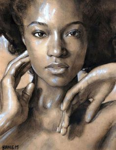 Yaya DaCosta by Rahiem Milton Acrylic Portrait Painting, Black Art Painting, Yaya Dacosta, Afro Art, Black Women Art, African American Art, Heart Art, Female Art, Art Images