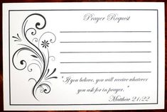 Hey, I found this really awesome Etsy listing at https://www.etsy.com/listing/227081814/pack-of-100-prayer-request-cards