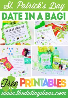 Quick and easy St. Patrick's Day date in a bag! LOVE this idea!!