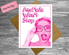 Miley Cyrus Card  Sister Husband Best Friend by PinkyPinkPaula, $4.95