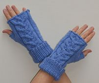 Ravelry: Blue Cable Mitts pattern by Reah Janise Kauffman free pattern