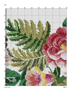 4 (541x700, 194Kb) Cute Cross Stitch, Cross Stitch Rose, Cross Stitch Flowers, Cross Stitch Charts, Cross Stitch Patterns, Embroidery Art, Embroidery Designs, Cardigan Pattern, Yarn Projects