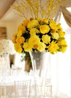 ideas decoración boda amarillo  Índigo Bodas y Eventos  www.indigobodasyeventos.com