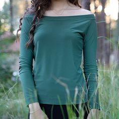 This shirt is a winter classic. Features an off shoulder neckline and long sleeves Neckline, Shoulder, Long Sleeve, Classic, Winter, Sleeves, Shirts, Tops, Fashion