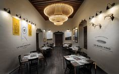 classic lamp vs modern decor.   El Montero, Saltillo Coahuila - Mexico  #restaurant #interior #design