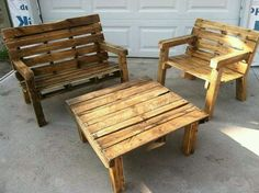 PALLET FURNITURE FOR THE PORCH/ BACK YARD