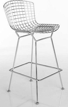 Bertoia Bar Stool with Seat Pad - modern - bar stools and counter stools - Design Within Reach