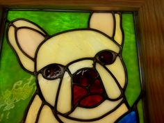 windowcandy/nacho the frenchie - I love her stained glass.  Be sure to check her out at:  https://www.etsy.com/shop/mywindowcandy