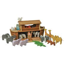 Beautiful wooden Noah's Ark playset. EverEarth Giant Noah's Ark and Animals Play Set