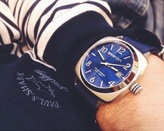#mybriston #sailor #yacht #sea #briston #watch #clubmaster classic steel blue sunray dial #Nato #strap ©Chronicles