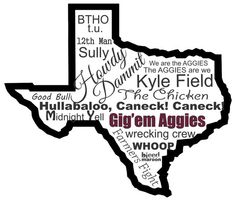 Texas A&M Word Art Poster. Frame this for our future game room