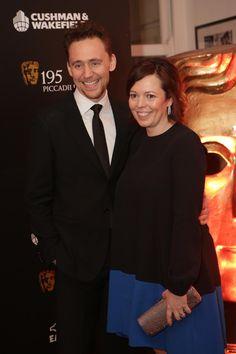 Tom Hiddleston with Olivia Colman - Bafta Film Gala 2015 #GiveSomethingBack Campaign