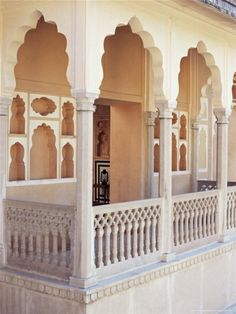 Hindu carved balcony design from India.