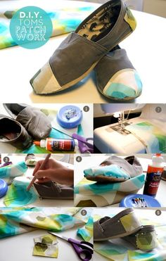Patch your toms shoes