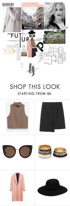 """Because I'll be thinking about you..."" by miky94 ❤ liked on Polyvore featuring Behance, Zara, Cacharel, STELLA McCARTNEY, Forever 21, Off-White and Jimmy Choo"