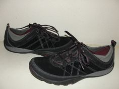 MERRELL Womens Sz 9M Mimosa Black Suede Leather Lace Up Sneakers Walking Shoes #Merrell #WalkingHikingTrail #Causal