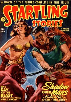 Startling Stories, Pulp Magazine, Cover Art by Earle Bergey