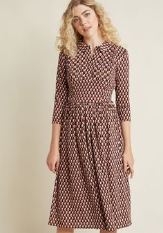 Fever London Proper Proposal Midi Dress in 8 (UK) - A-line by Fever London from ModCloth Hot Outfits, Pretty Outfits, 1960s Dresses, Professional Wardrobe, Work Wardrobe, Shirtwaist Dress, Dress Picture, Women's Fashion Dresses, Fashion Shoes