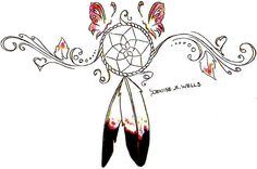 Dreamcatcher Tattoo Design by Denise A. Wells by ♥Denise A. Wells♥, via Flickr