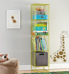 Giraffe with poka dots I love you Large by VinylDesignCreations, $18.00