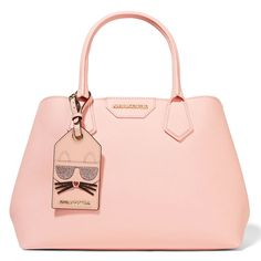 Karl Largerfeld Lady Shopper Textured-Leather Tote