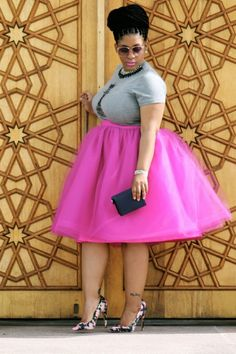 f0ba94e276b Fuchsia Plus Size Adult Skirts Knee Length Tutu Tulle Tiered Layers High  Waist Women Skirts Bust Skirt Cheap Party Gown Cocktail Dresses