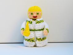 Ghost of Christmas Past - Charles Dickens, Christmas Carol Doll - Beginners Knitting Pattern