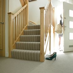 Natural Co-ordinates Striped Carpet in Seaweed from Victoria Carpets | Bargain carpets - our pick of the best | housetohome.co.uk