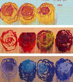 I saw the Cy Twombly roses today and they are huge and quite breathtaking!