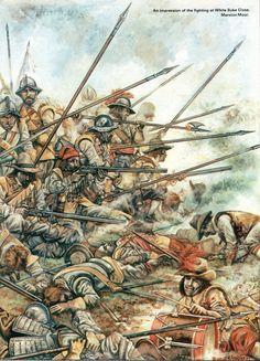 Fighting at the White Skye Close.  Marston Moor.