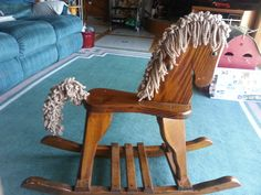 How To Make Hair Out Of Yarn For A Rocking Horse Rocking