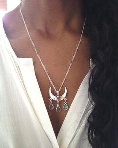 Boho Necklace/ Labradorite Necklace/ Tribal by AVBohoJewellery