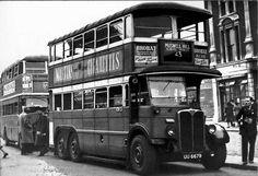 Bridge in the - Magnificent LT-type. London Bus, London Bridge, London City, London Transport, London Travel, Public Transport, London History, British History, Vintage London