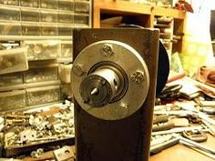 Lathe Bearing Holder by Captainleeward -- Home Made Wood Head Stock Lathe-Bering holders. Made from 1/2 inch Aluminum...