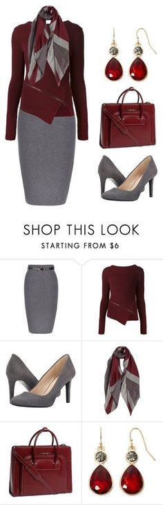 """""""New Work Outfit January 2016"""" by rovereddo ❤ liked on Polyvore featuring Belstaff, Nine West, McKleinUSA and Liz Claiborne"""