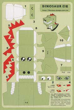 Dinosaur - Cut Out Postcard | Flickr – Compartilhamento de fotos!