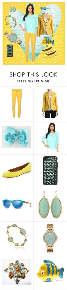"""""""Seafoam Green and Yellow Spring Fever"""" by bluehatter ❤ liked on Polyvore featuring M Missoni, Weekend Max Mara, Culture Phit, French Sole FS/NY, Casetify, Arnette, Erica Lyons, Michael Kors and Danielle Nicole"""